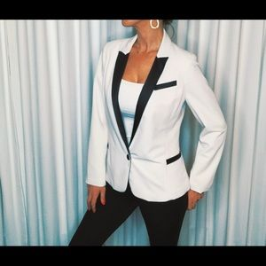 Chic black and white blazer